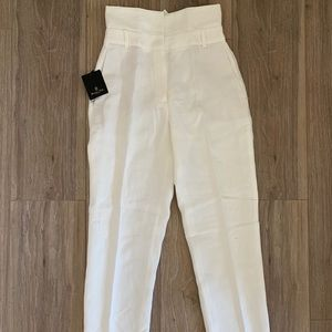 With Tags Massimo Dutti high waist linen pants